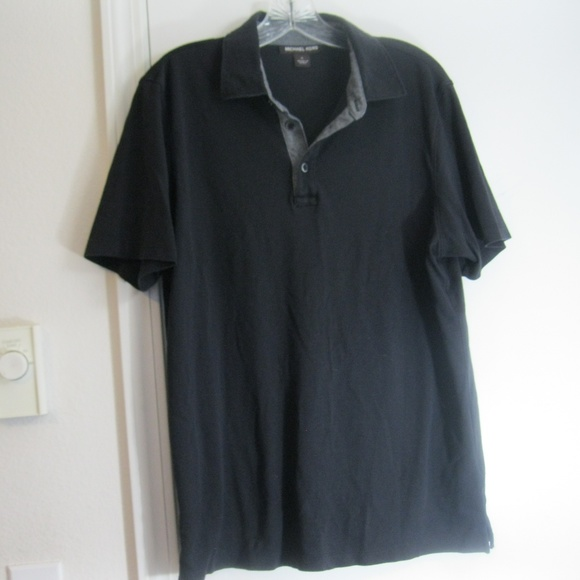 466d409e Michael Kors Shirts | Black Mens Polo Size Large | Poshmark